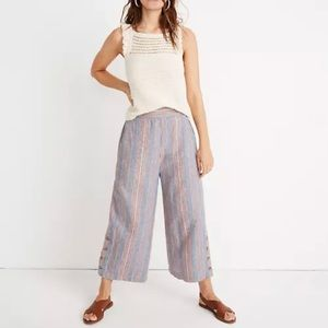 Madewell Side Button Huston Pull On Crop Pants Med